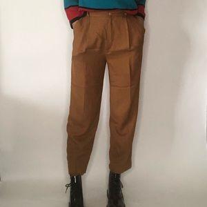 {Vintage} camel color high waist pants